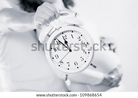 pregnant woman before delivery - stock photo