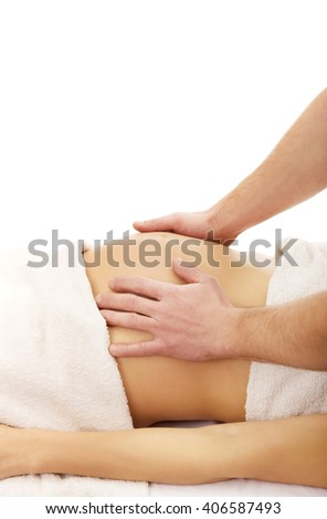 Pregnant woman having a relaxing massage