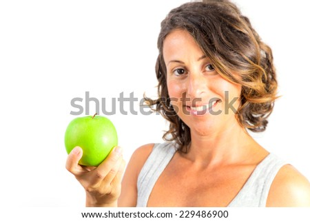 Pregnant Woman Holding Apple