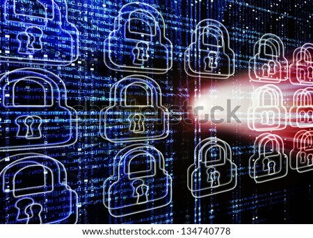 prehistoric firewall digital illustration with skull - stock photo