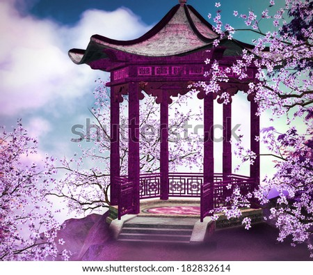Premade Chines Background - stock photo