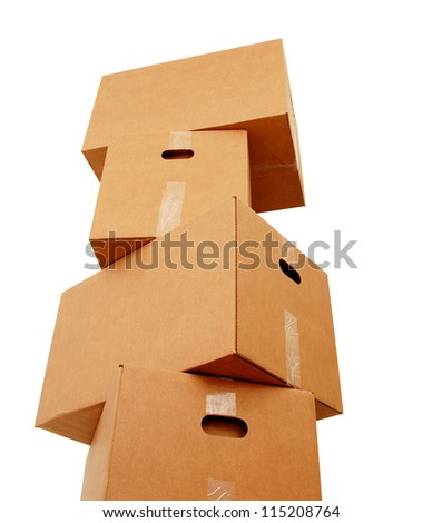 Premium boxes stacking - stock photo