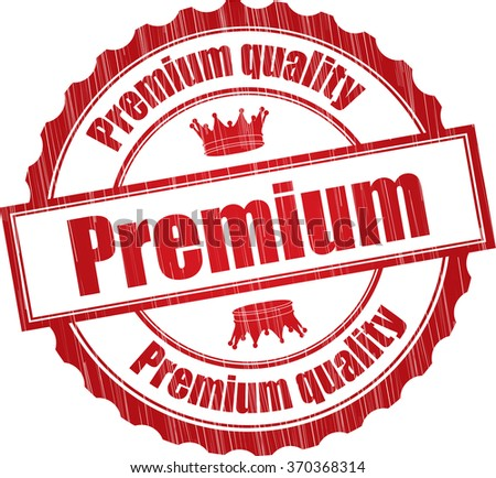 Premium quality grunge rubber stamp. - stock photo