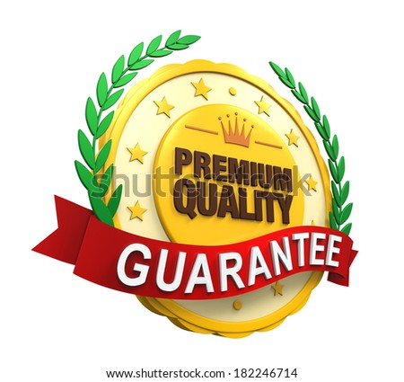 Premium Quality Guaranteed Label - stock photo