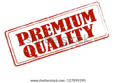 Premium quality rectangle stamp - stock photo