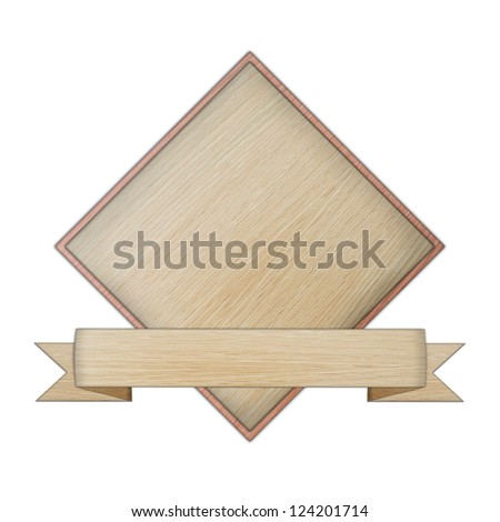 premium quality wooded label retro vintage design collection isolated on white background, vintage banner label frame, wood cut style collection. - stock photo
