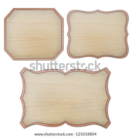 premium quality wooded label retro vintage design collection isolated on white background, vintage banner label frame, wood cut style collection