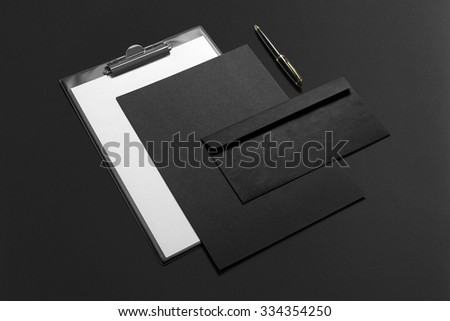 Premium Stationery, Branding Mock-up, with clipping path, isolated, changeable background - stock photo