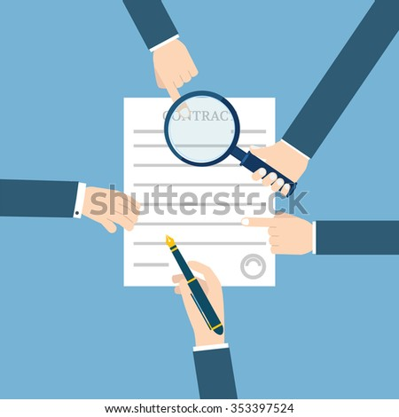Preparation business contract. - stock photo