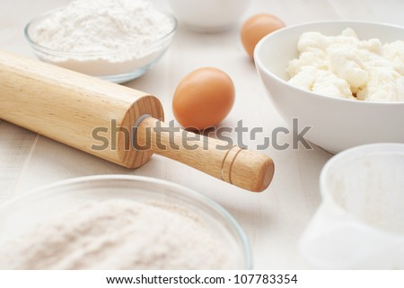 Preparation for baking - stock photo