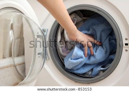 Preparation for washing - stock photo