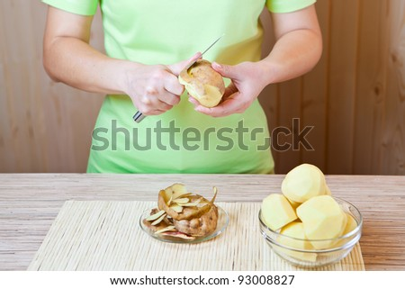 Preparation of a potato for meal preparation