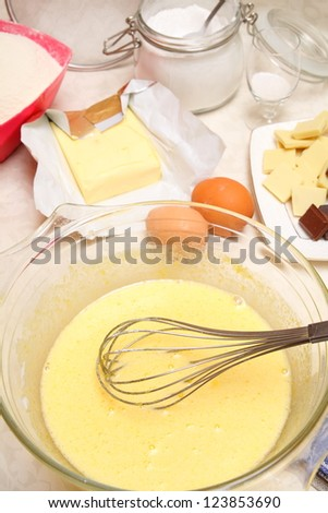 Preparation of biscuit - stock photo