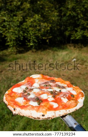 preparation of pizza