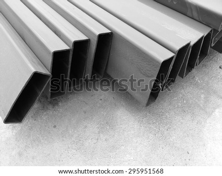 Prepare for the steel used in the buzz building. - stock photo
