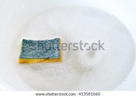 Prepare to Wash dishes - stock photo