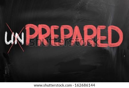 Prepared Concept - stock photo