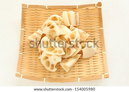 prepared freshness lotus root from Japan - stock photo