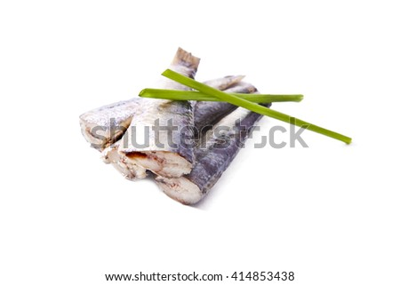 prepared sardines isolated