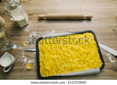 Preparing Apple Pie - stock photo