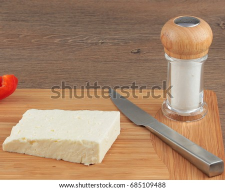 Preparing breakfast with cheese