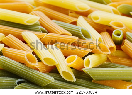preparing dried pasta - stock photo