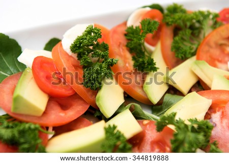 Preparing food for catering service - stock photo