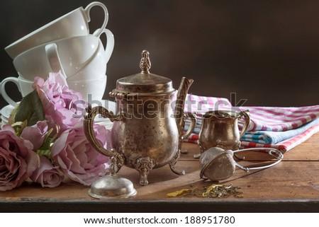 Preparing for teatime - stock photo