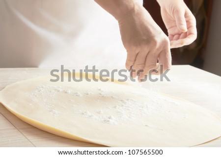 Preparing Pastry - stock photo