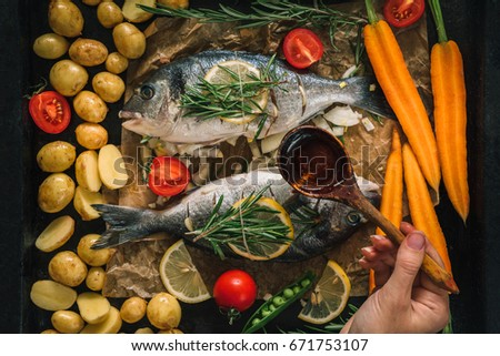 Dorado stock images royalty free images vectors for Aromatic herb for fish