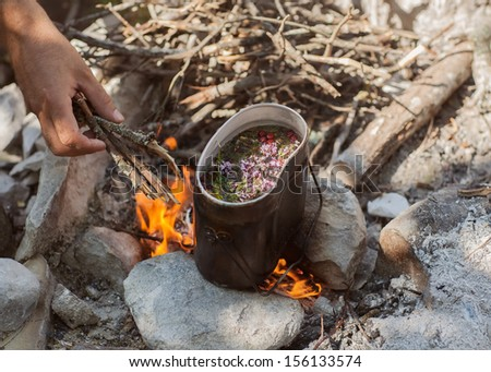 Preparing tea - stock photo