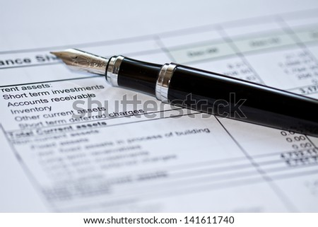 prepartion of financial statements - stock photo