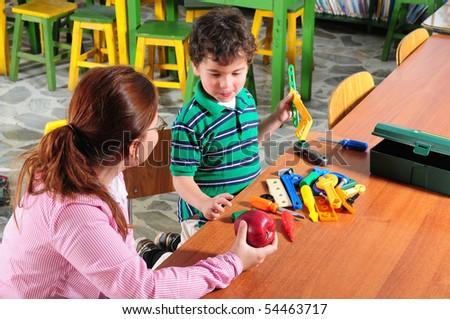 Preschool classroom. - stock photo