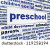 Preschool message background. Child education poster design - stock photo