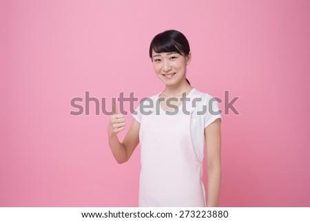 preschool teacher - stock photo