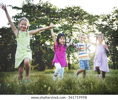 Preschooler Children Play Recreation Friends Concept