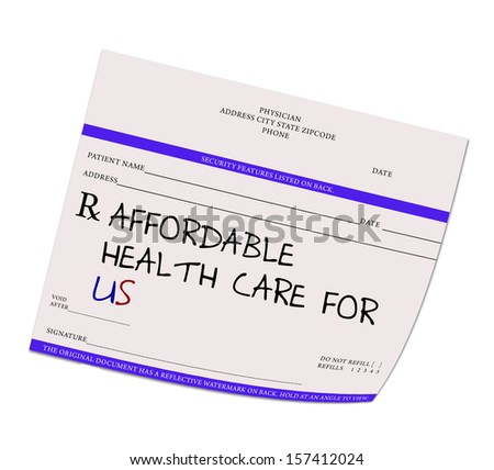 Prescription Pad with Affordable Health Care for US
