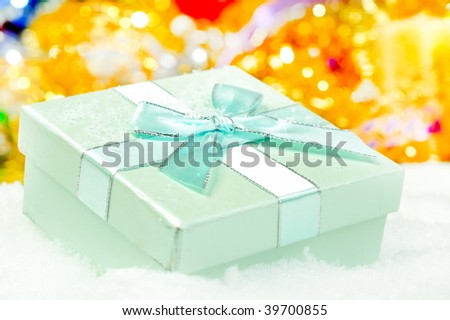 present box over snow