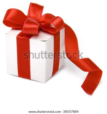 present box with red bow