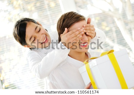 Present for mom - stock photo