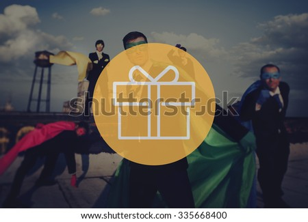 Present Gift Wrapped Ornament Package Celebrate Concept - stock photo
