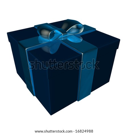 present or gift isolated on white