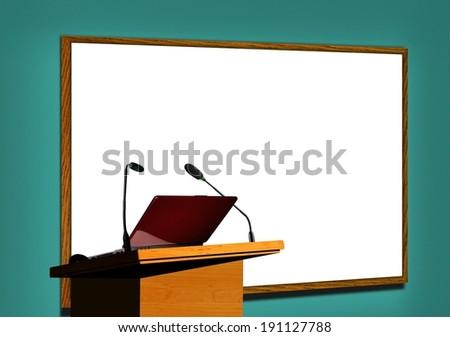 Presentation at Seminar - stock photo