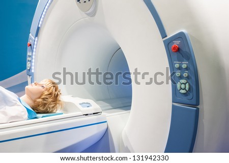 presentation of diagnostic tomograph - stock photo