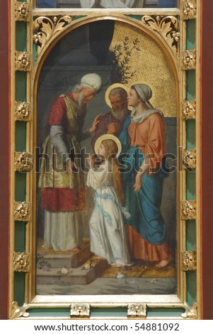 Presentation of Mary in the Temple - stock photo