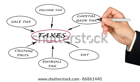 Presentation of structure of taxation