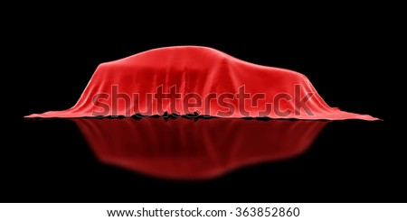Presentation of the car.3d Illustrations - stock photo