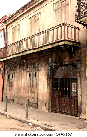 Preservation Hall, Birth of Jazz, New Orleans - stock photo