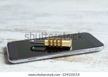 Preserving the cell phone data  - stock photo