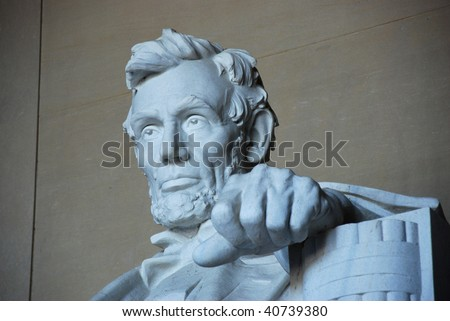 President Abraham Lincoln Memorial Statue - stock photo